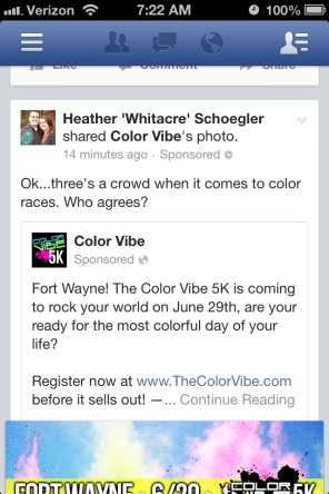 Facebook Ad_color vibe sponsored post